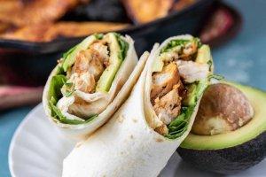 Wraps de Pollo - Recetas Saludables